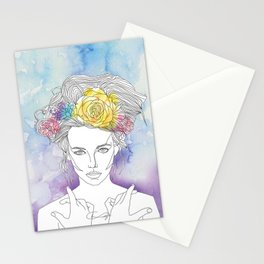 Flower Queen Stationery Cards