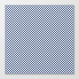 Deep Sapphire Polka Dots Canvas Print