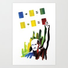 Color theory Art Print