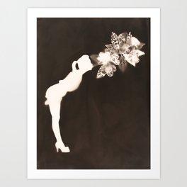 Negative Kiss Art Print