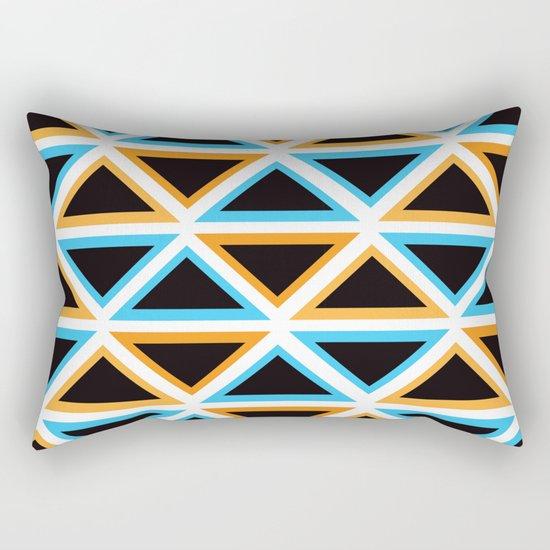 Colorful Triangle (Ranging Tribuj) Rectangular Pillow