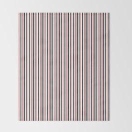 Red, black white striped pattern . Throw Blanket
