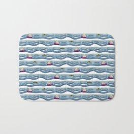 Sailing pattern 1 Bath Mat