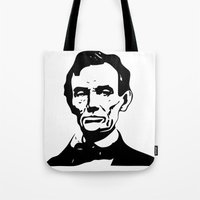 lincoln Tote Bags featuring LINCOLN $ by b & c