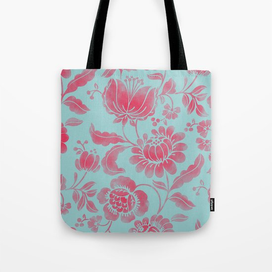 Wild Flower Red Tote Bag