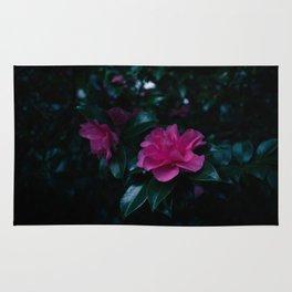 Dark flowers I Rug