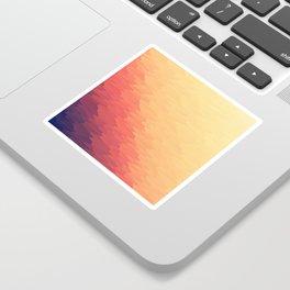 Orange Peach Ombre Sticker