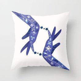 Sapphire Throw Pillow
