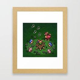 Flute Boy Framed Art Print