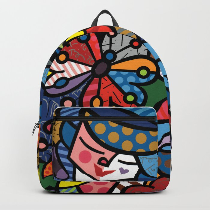 Abstract Colorful Living Kind Artwork Backpack