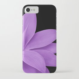 Agave Finesse #10 - Purple on Black #tropical #decor #art #society6 iPhone Case