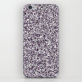 Tiny Spots - White and Dark Purple iPhone Skin