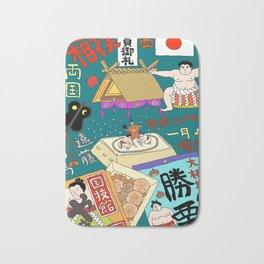 Sumo Print Bath Mat