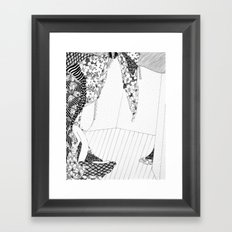 A body that betrays more virility than it can offer Framed Art Print
