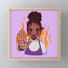 Basta de feminicidios Framed Mini Art Print