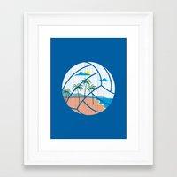 volleyball Framed Art Prints featuring Beach Volleyball by Erik Sandi Satresa