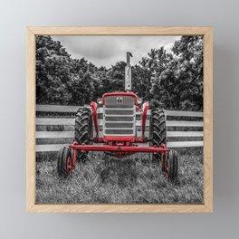 IH 240 Selective Red Tractor McCormick-Deering Farmall Framed Mini Art Print