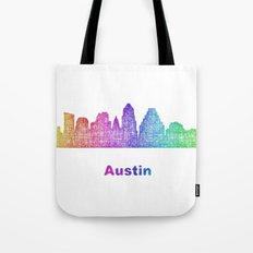 Rainbow Austin skyline Tote Bag