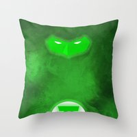 green lantern Throw Pillows featuring Green Lantern by theLinC