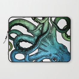 Octopus, Ocean Bue, Sea Green, Tentacles Laptop Sleeve