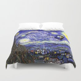 TARDIS STARRY NIGHT Duvet Cover