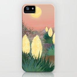 Succulents in twilight iPhone Case