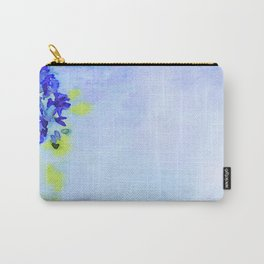 Watercolor of Spring background with blooming wisteria. Beautiful pink flowers Carry-All Pouch