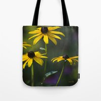 daisies Tote Bags featuring Daisies by Christina Rollo