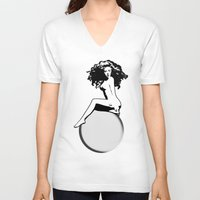 artrave V-neck T-shirts featuring artRAVE by Greg21