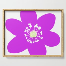 Flower Anemone Hepatica Red Serving Tray