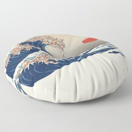The Great Wave of Chihuahua Floor Pillow