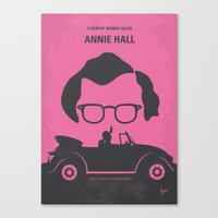 annie hall Canvas Prints featuring No147 My Annie Hall minimal movie poster by Chungkong
