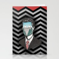 dale cooper Stationery Cards featuring Agent Dale Cooper by Ryan M Whiteley