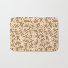 Gingerbread Man Pattern Bath Mat