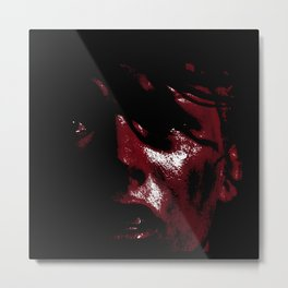 Leeloo Red - Fifth Element Painting Metal Print