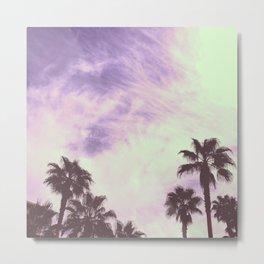 Palm Trees Over Vegas Metal Print