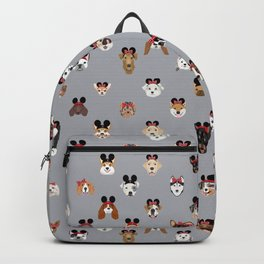 dog gifts theme park vacation dog heads Backpack