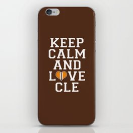 LOVE CLE BROWNS iPhone Skin