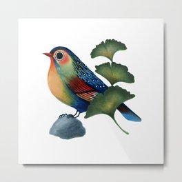 Ginkgo Bird Metal Print
