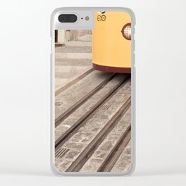 Yellow Tram Clear iPhone Case