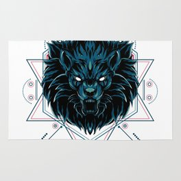 The Wild Lion sacred geometry Rug