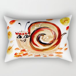 Beautiful Watercolor Autumn Element Rectangular Pillow