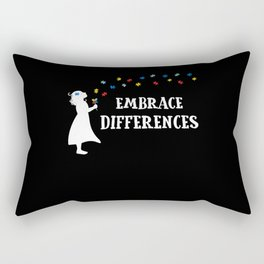 Autism Awareness Gift Embrace Differences School Gift Rectangular Pillow