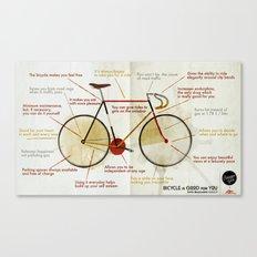 Bike benefit (eng) Canvas Print