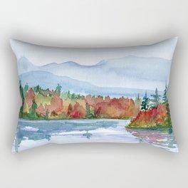 Mirror Lake in Autumn Rectangular Pillow