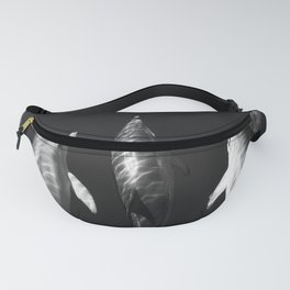 Beautiful wild dolphins black and white Fanny Pack