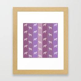 Zebra Pattern Framed Art Print