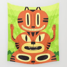 Totem Cat Wall Tapestry