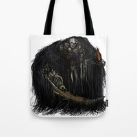 dark souls Tote Bags featuring Gravelord Nito - Dark Souls by VerticalSynapse