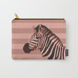 [Animals & Stripes] Peach zebra Carry-All Pouch